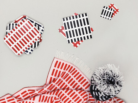 Napkins with world-famous patterns