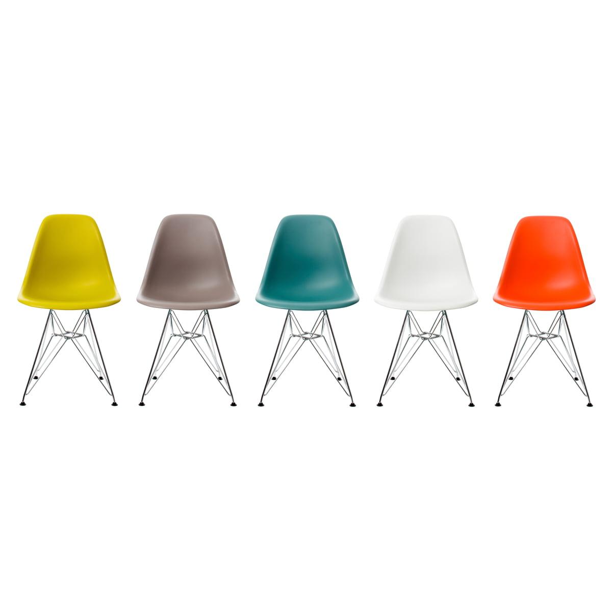 eames plastic side chair dsr (h  cm) vitra - eames plastic side chair dsr