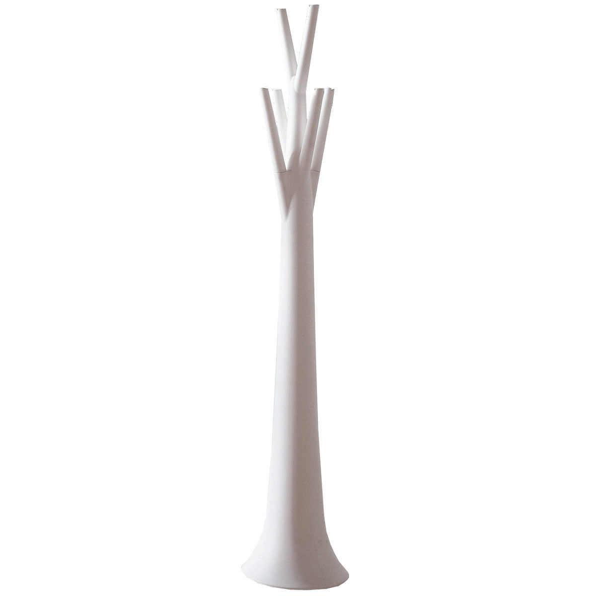 tree clothes stand matt white