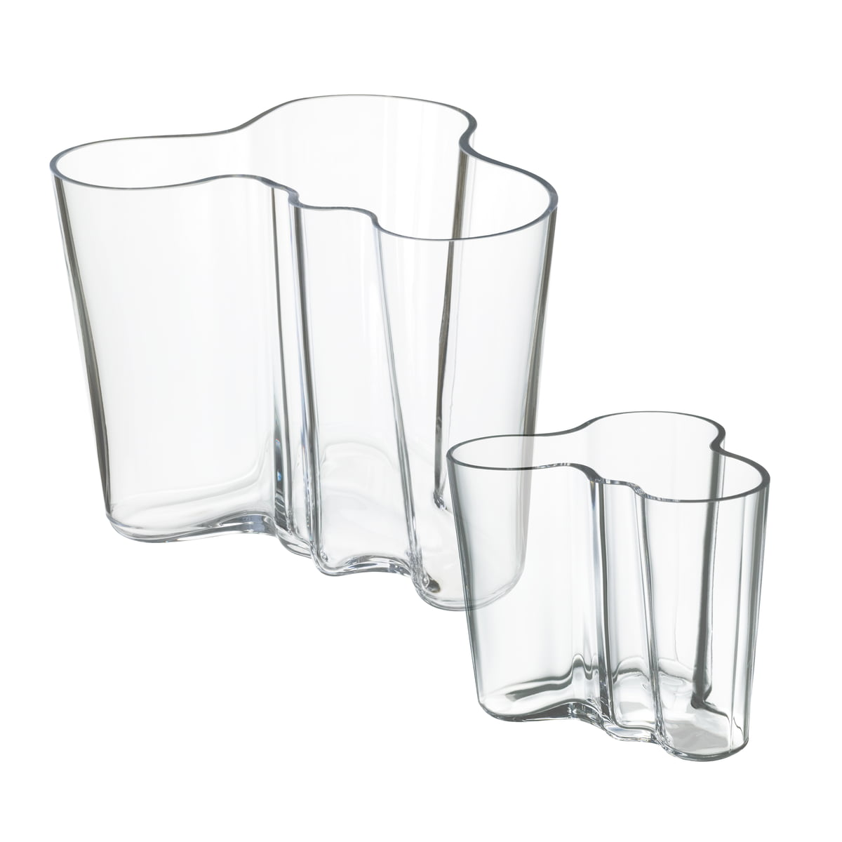 aalto vases gift set by iittala - offer alvar aalto vases set of   clear    mm