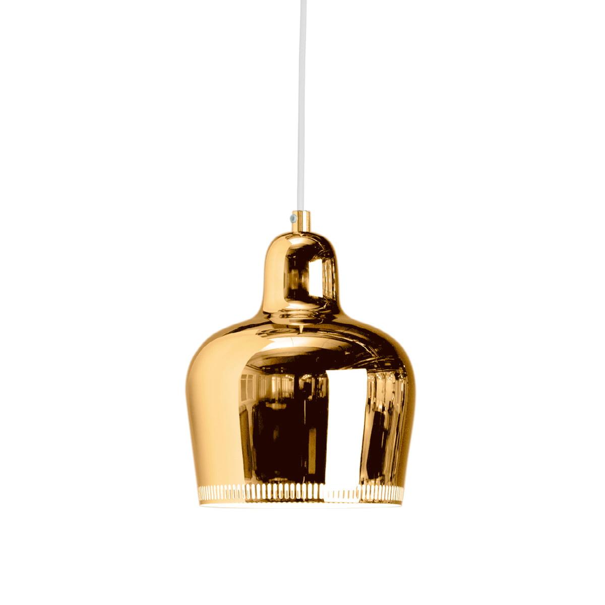 the artek as golden bell pendant lamp - artek  a s golden bell pendant brass