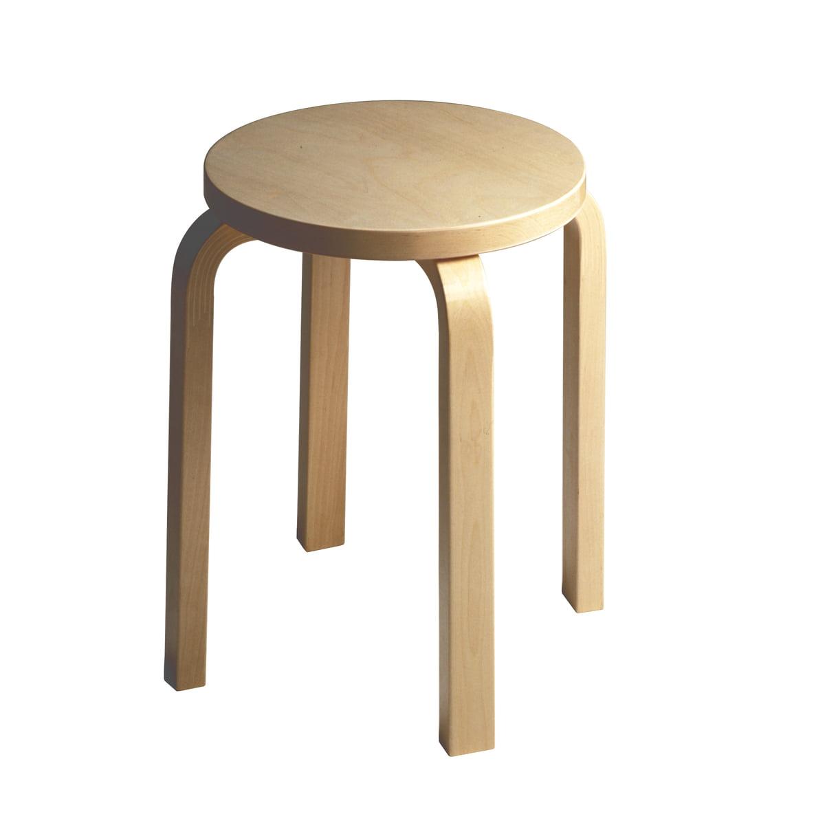 stool e  artek  shop - artek stool e birch