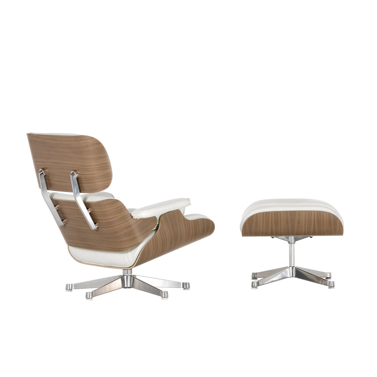 Vitra Eames Lounge Chair & Ottoman walnut white