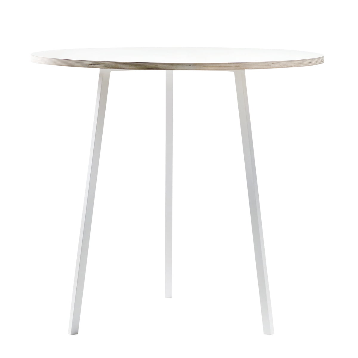 hay loop stand bistro table white