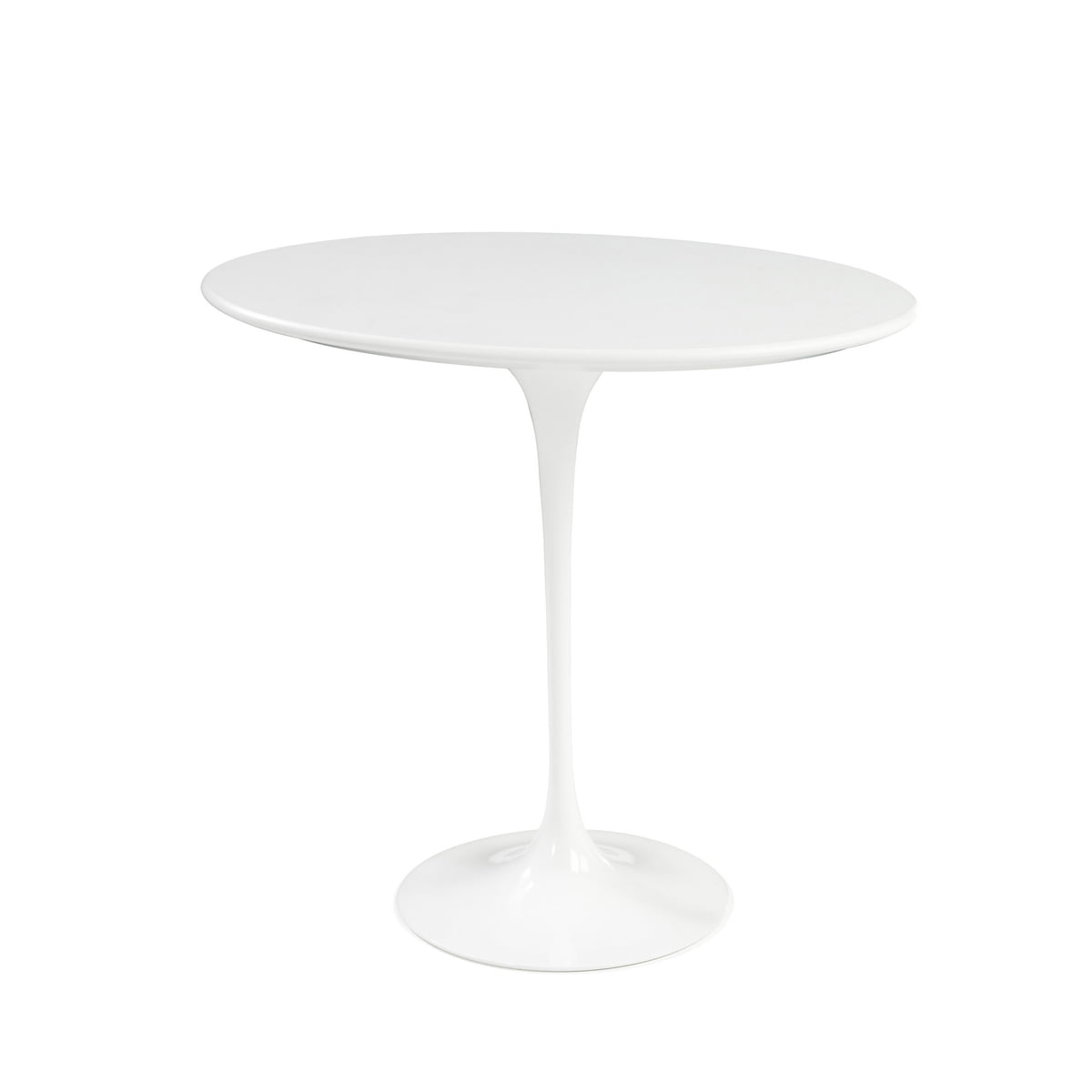 knoll saarinen tulip side table round white laminate white