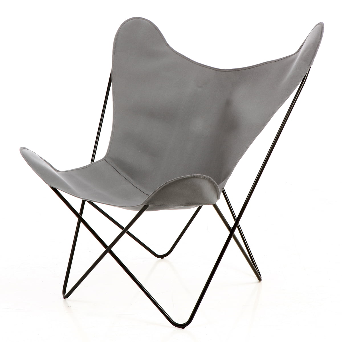 Butterfly chair black - M Butterfly B K F Chair Black Steel Acrylic Grey
