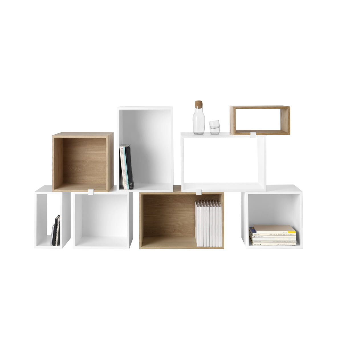 mini stacked shelving system by muuto. Black Bedroom Furniture Sets. Home Design Ideas