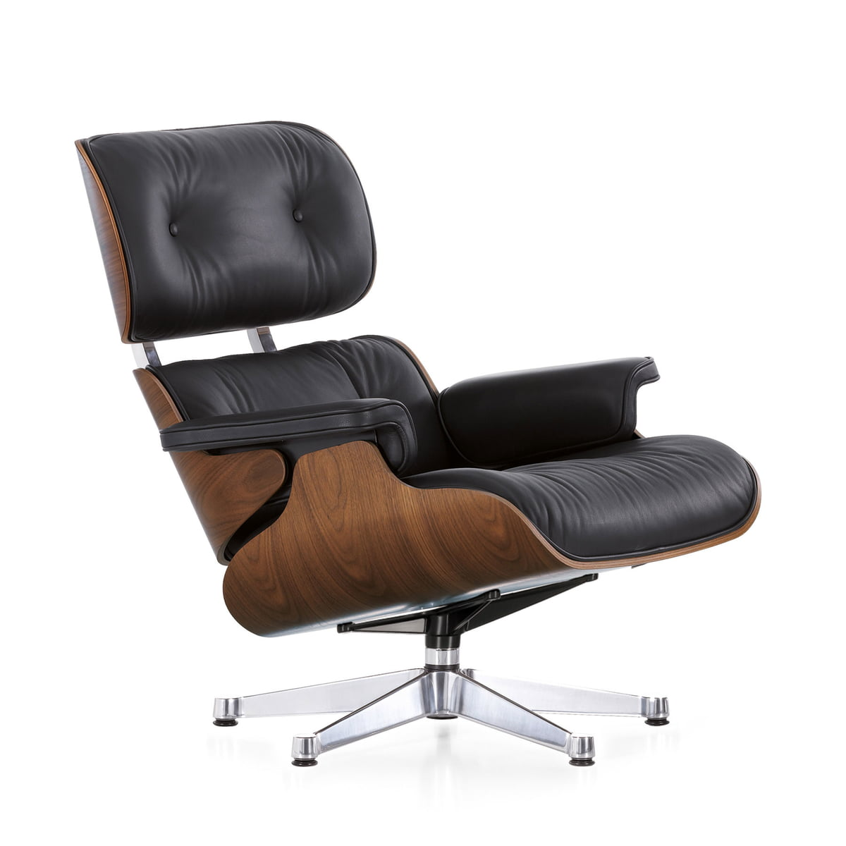 Vitra lounge chair amp ottoman white version von charles amp ray eames - Vitra Lounge Chair In Walnut