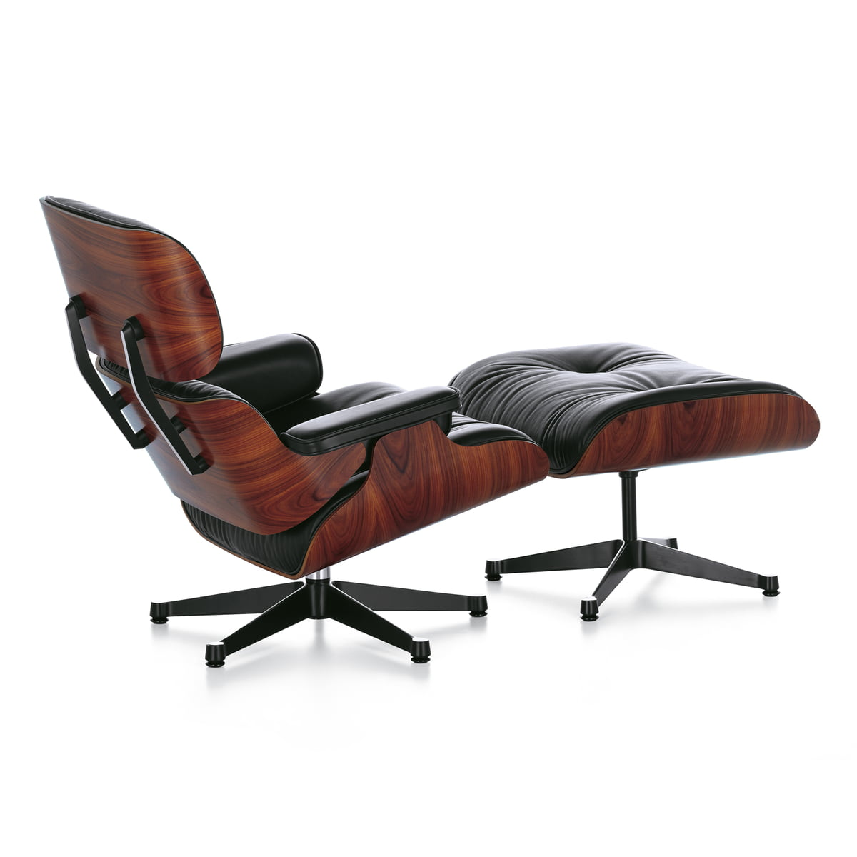 lounge chair  ottoman  santos rosewood - vitra  lounge chair  ottoman  santos rosewood