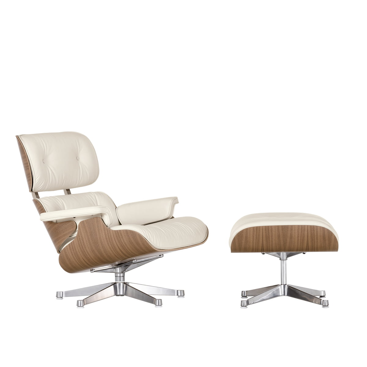 matching ottoman for vitra lounge chair white - vitra eames lounge chair  ottoman  walnut white