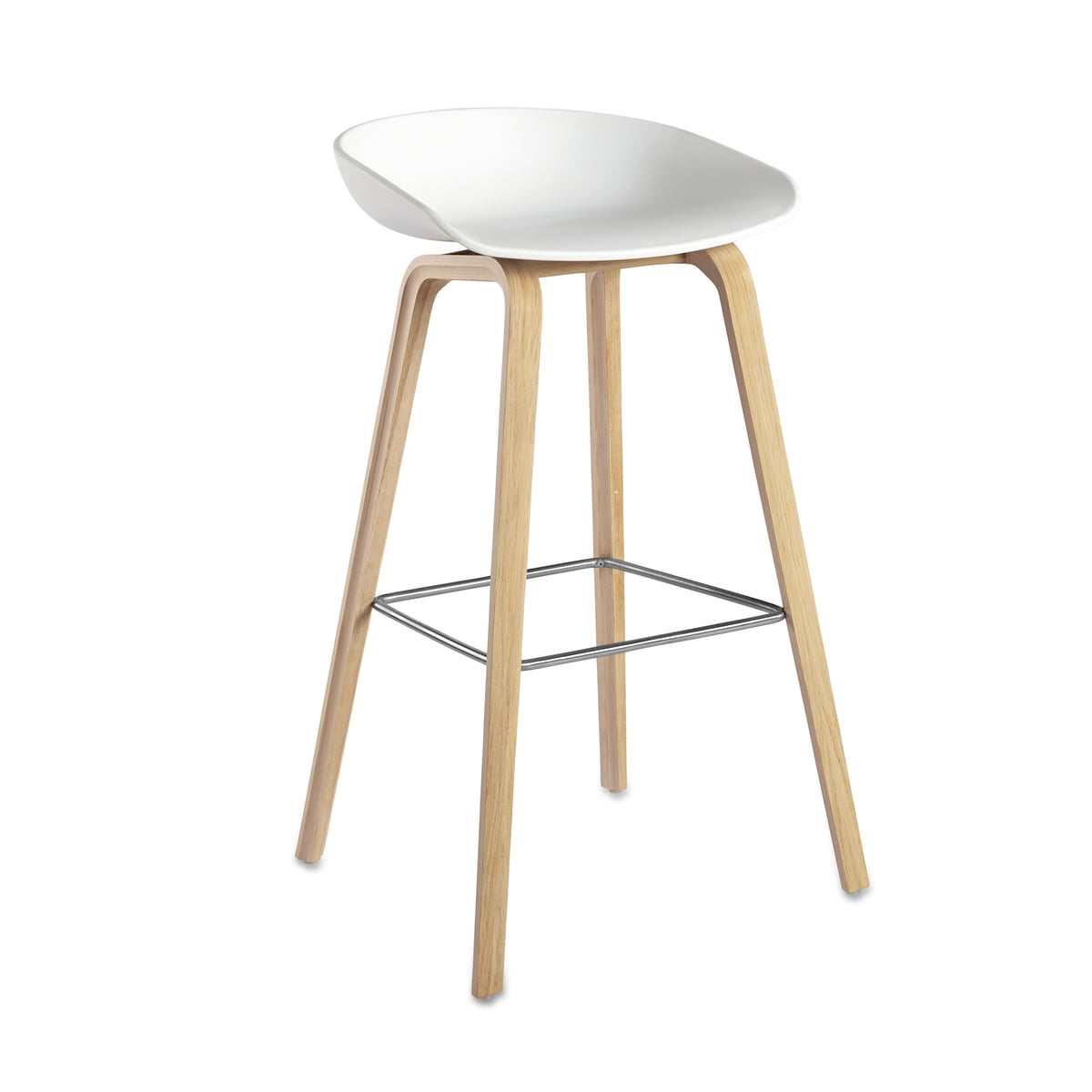 About A Stool AAS 32 by Hay Connox Shop : About a stool oak base white 75 from www.connox.com size 1200 x 1200 jpeg 77kB