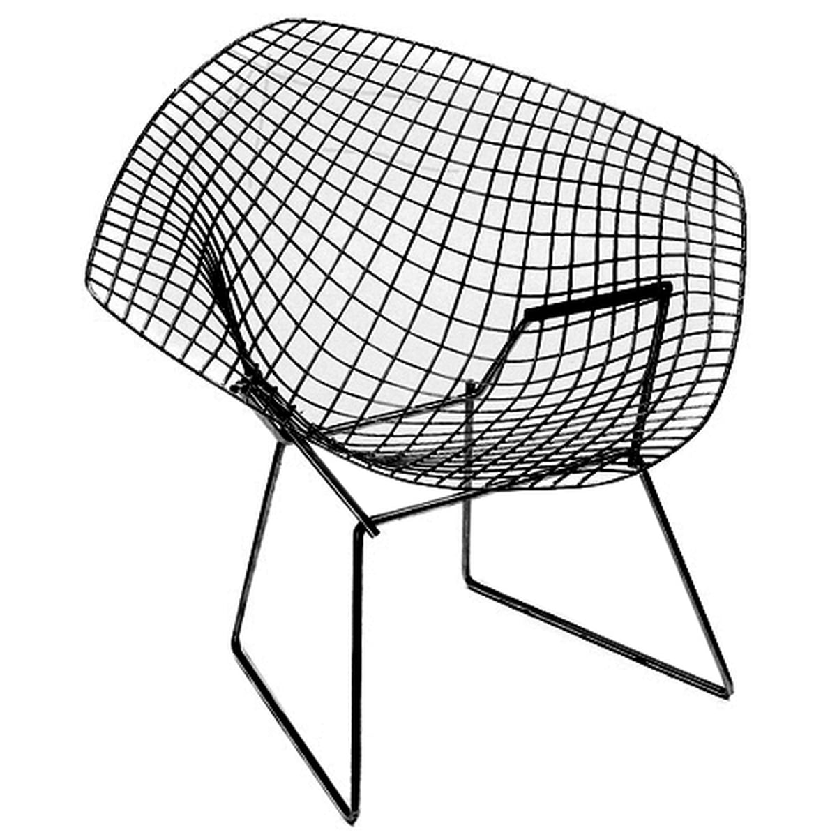 Bertoia diamond chair black - Knoll Diamond Outdoor Chair Black