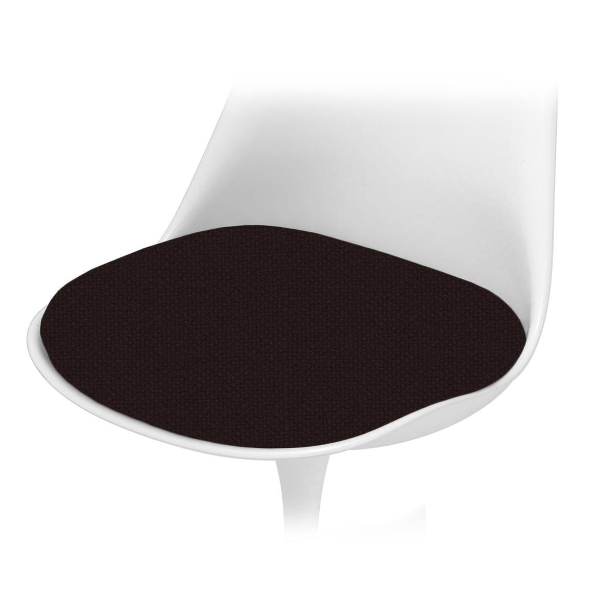 Black chair cushion - Knoll Seat Cushion For Saarinen Tulip Chair Tone Black