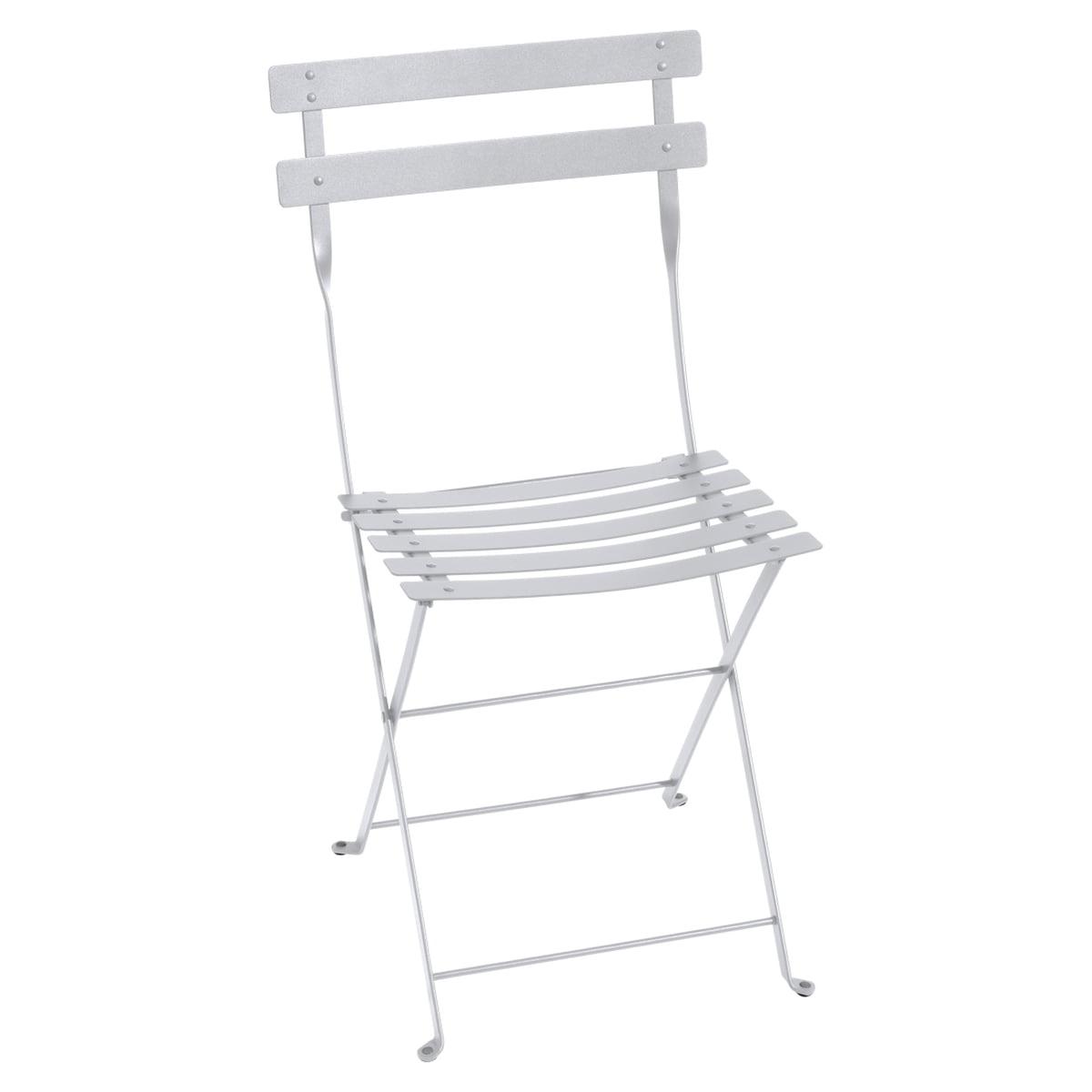 White Metal Folding Chairs bistro metal folding chair | fermob | shop