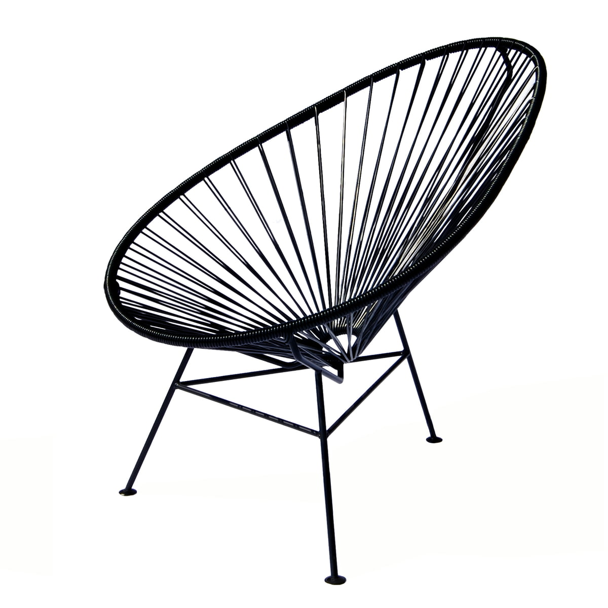 Acapulco chair dimensions - Ok Design The Acapulco Chair Black