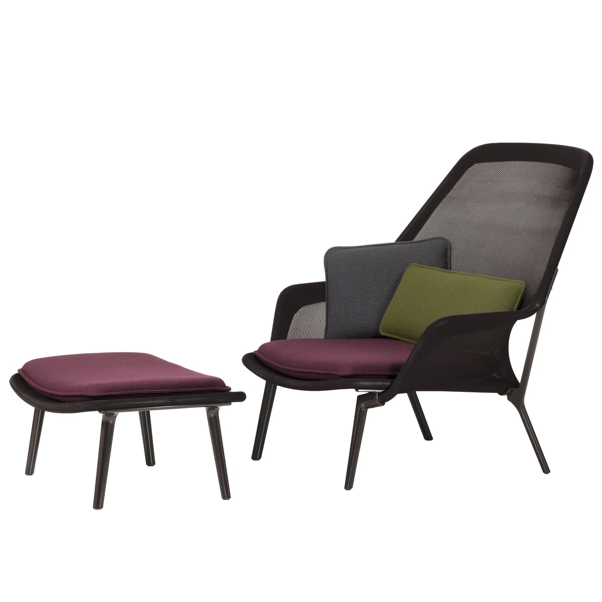 Slow chair ottoman vitra shop for Boutique vitra