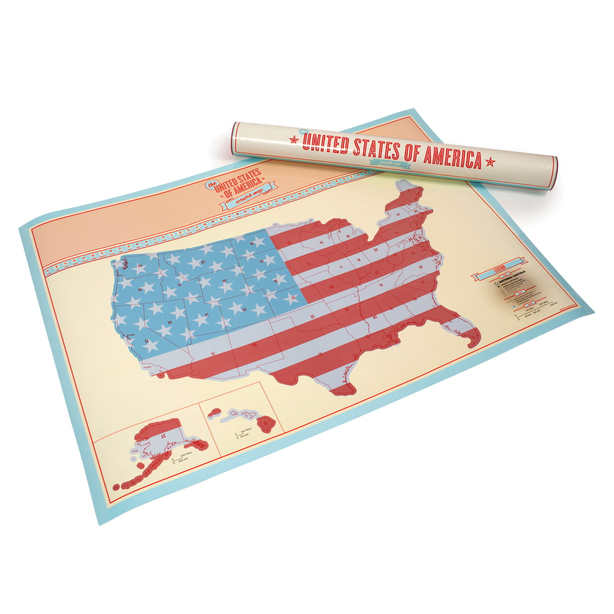 The Scratch Map USA By Luckies In The Shop - Scratch us map