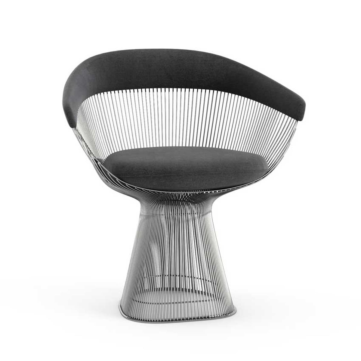 the platner armchair by knoll in the shop - knoll  platner arm chair velvet graphite