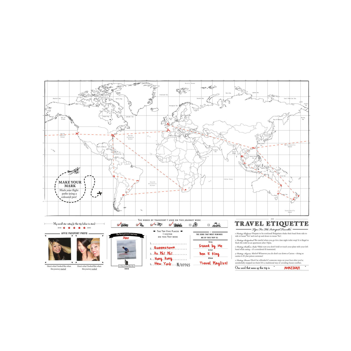 The Scratch Map Travel Edition by Luckies – Luckies Travel Scratch Map
