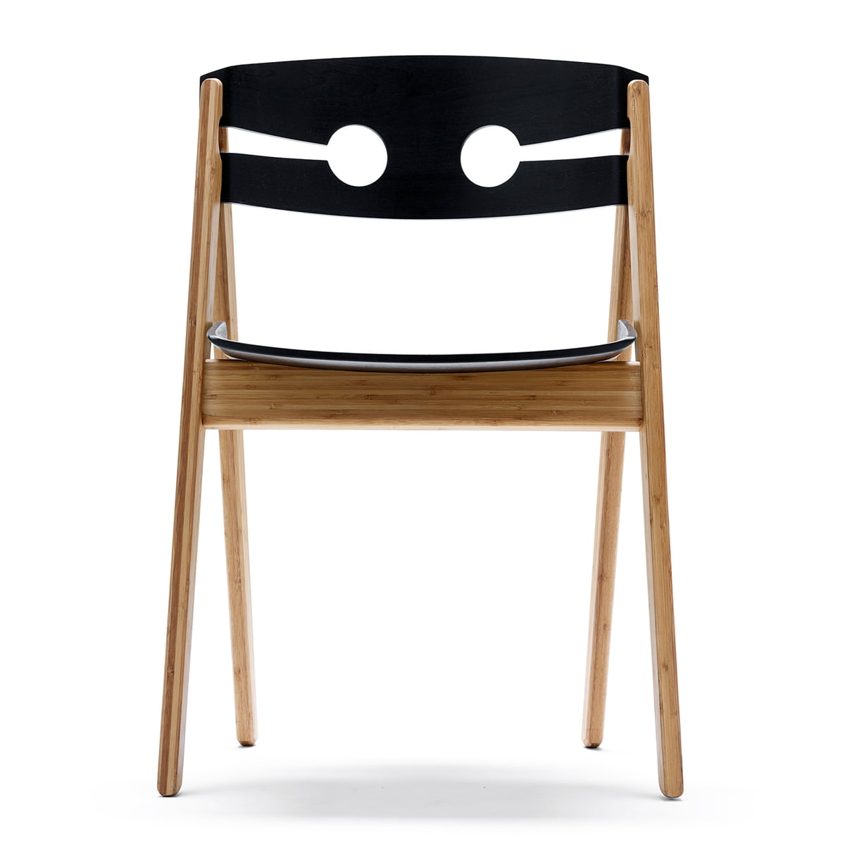 Wooden chair front view - We Do Wood Dining Chair No 1 Black Front View
