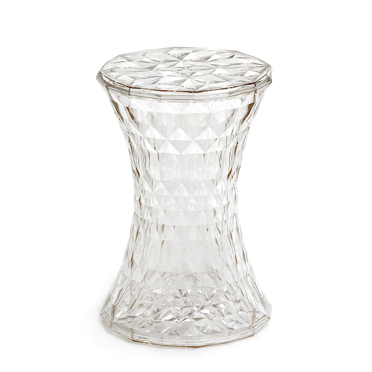 Kartell   Stone Side Table And Stool, Crystal Clear