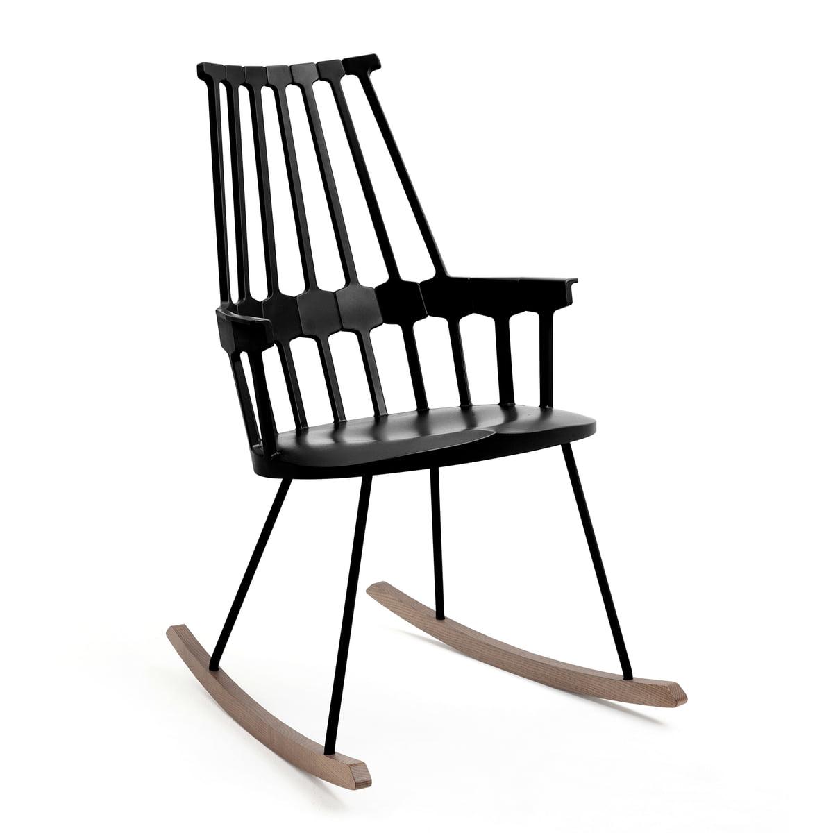 Black rocking chair - Kartell Comback Rocking Chair Black