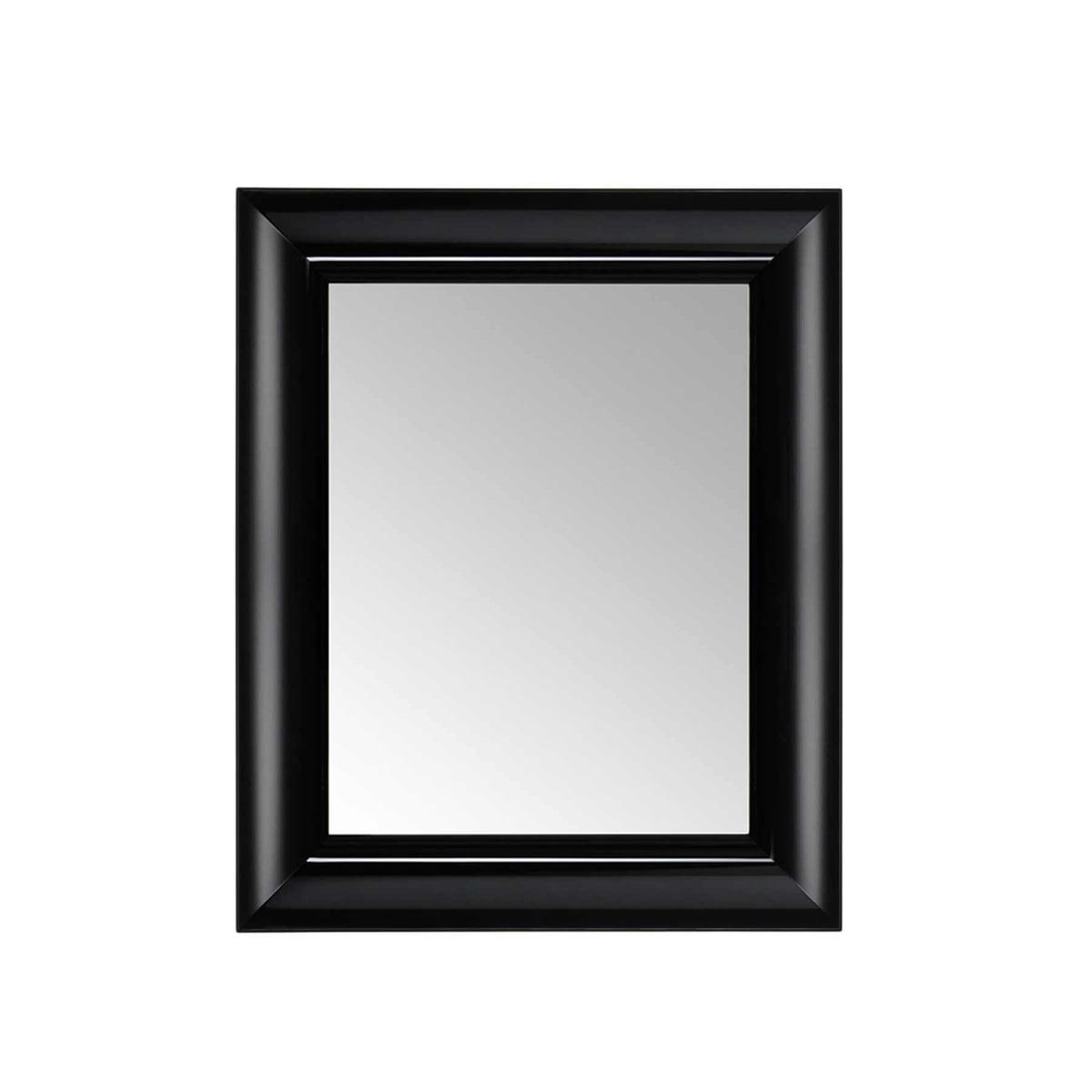 the françois ghost mirror by kartell - kartell  françois ghost mirror small black  front