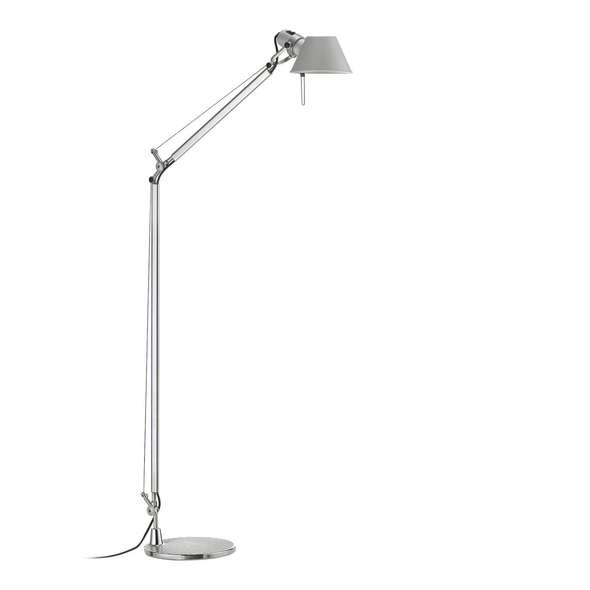 tolomeo lettura led floor lamp by artemide - artemide  tolomeo lettura floor lamp led
