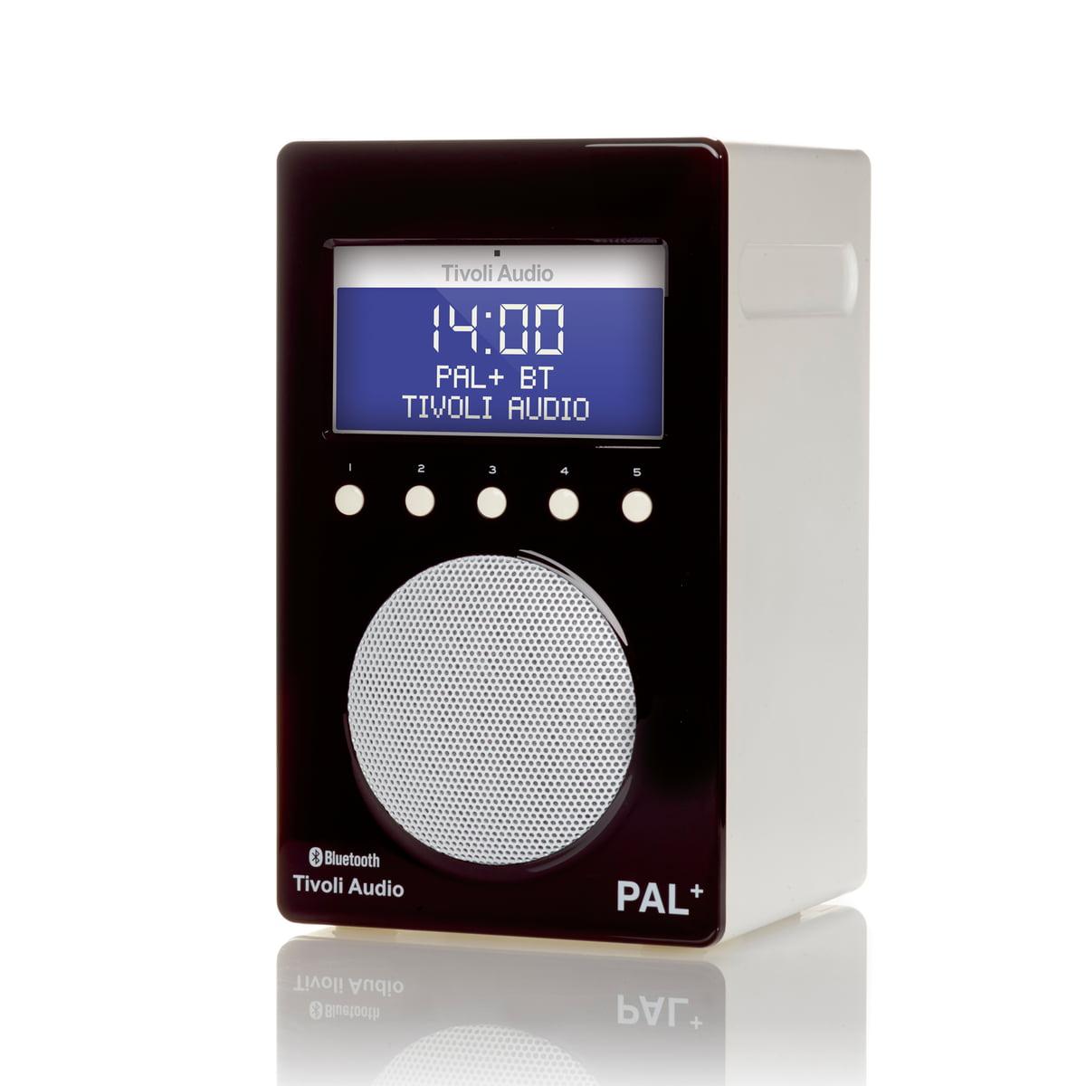 tivoli audio pal bt glossy black white - Tivoli Radio