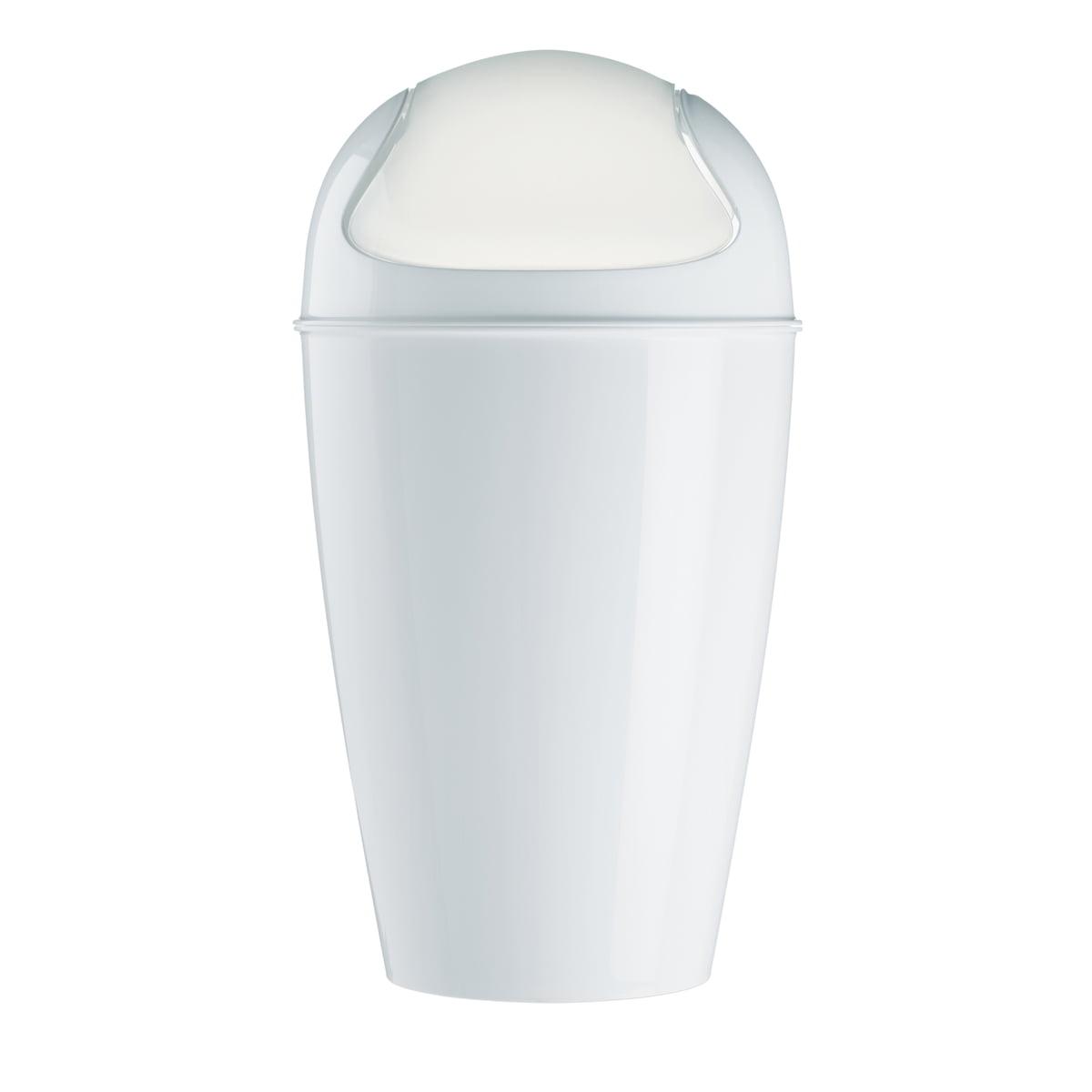 Koziol  Del Xl Dustbin With Swinging Lid, 30 L, White
