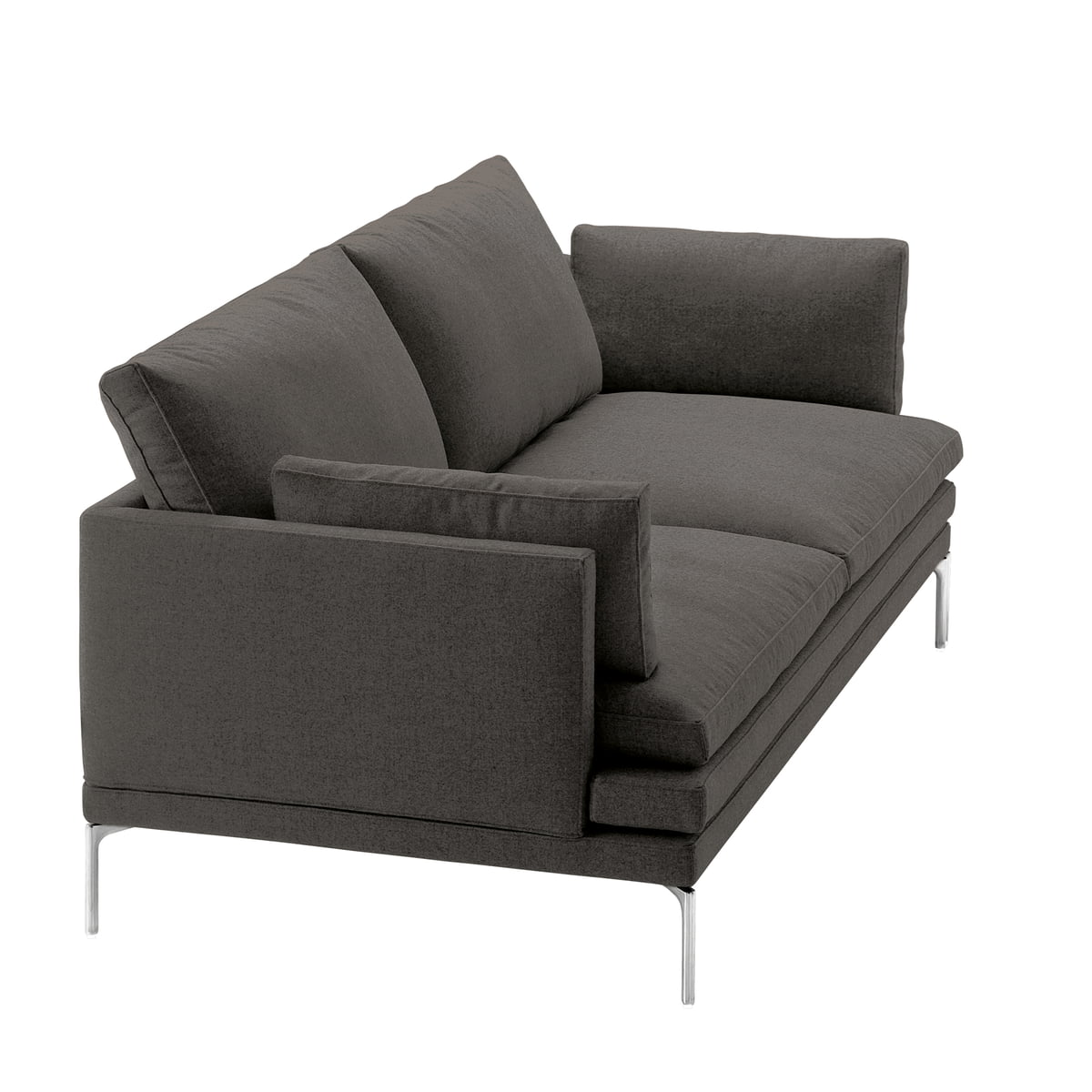 zanotta william sofa 180 cm vasco 20 dark grey 25805. Black Bedroom Furniture Sets. Home Design Ideas