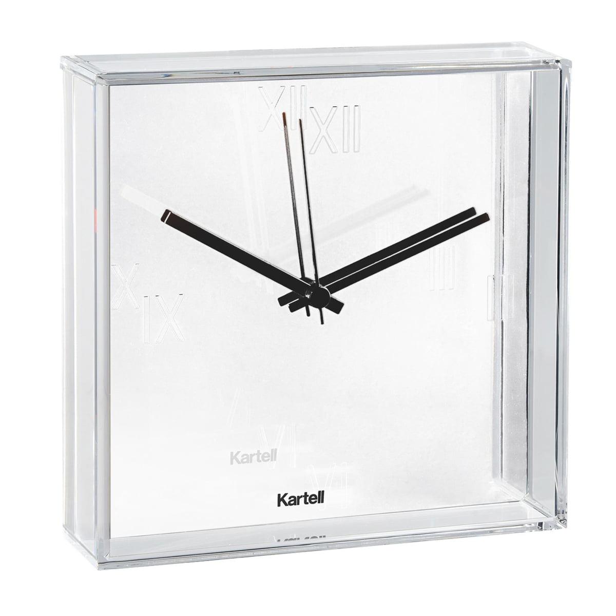 tic  tac wall clock  kartell  shop - kartell  tic  tac wall clock white
