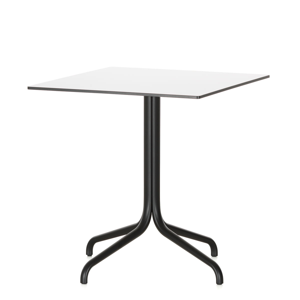 Belleville Bistro Table, Square, 75 X 75 Cm By Vitra In White