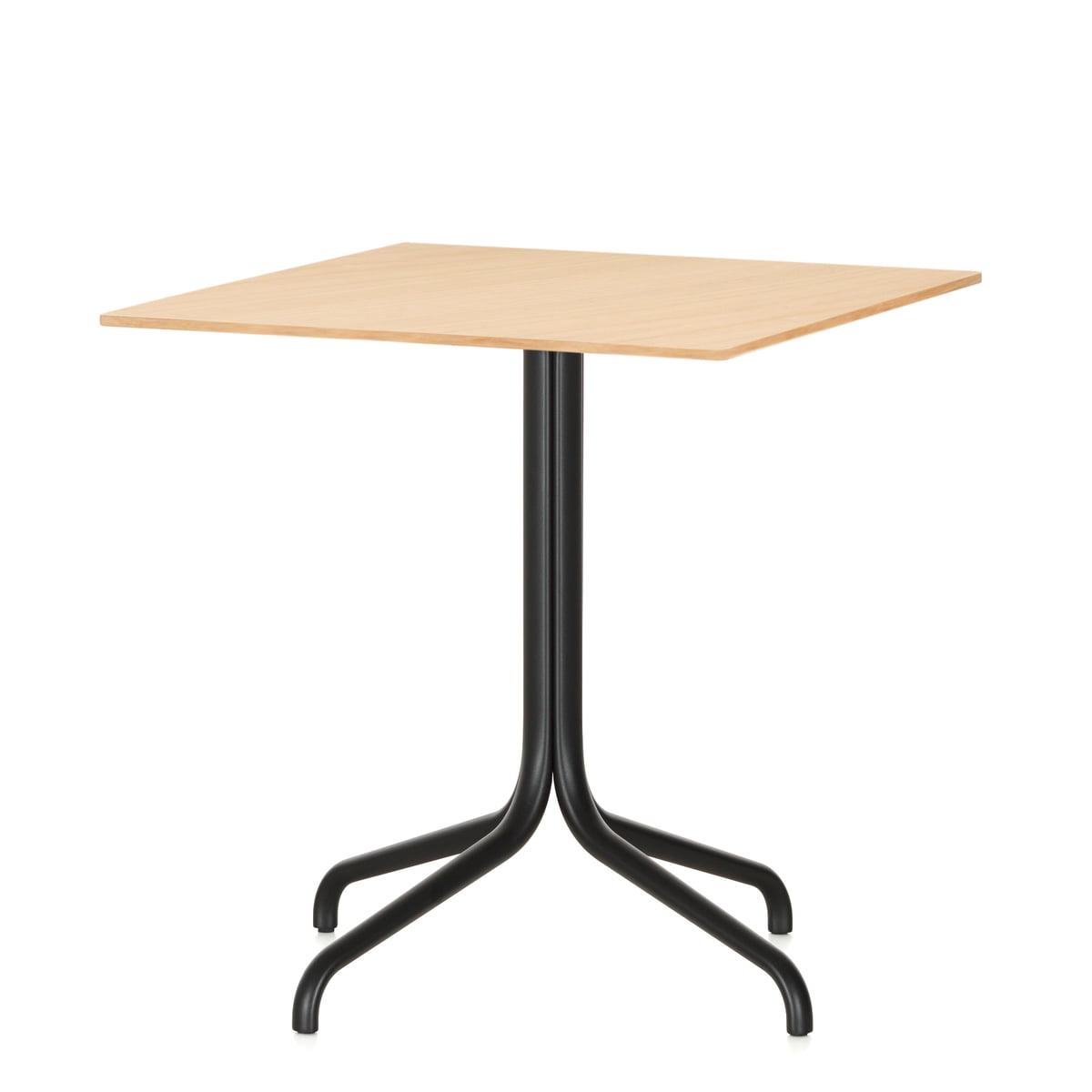 Marvelous Belleville Bistro Table, Square, 75 X 75 Cm By Vitra In Light Oak Veneer