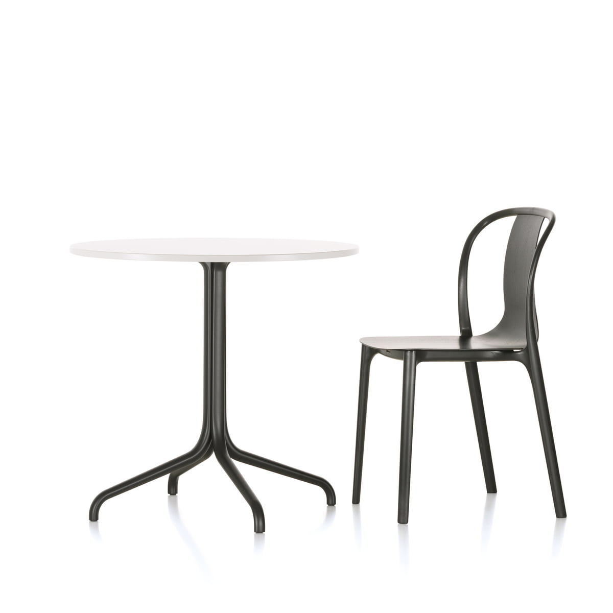 Indoor bistro table and chairs - Belleville Bistro Table And Belleville Chair Wood By Vitra