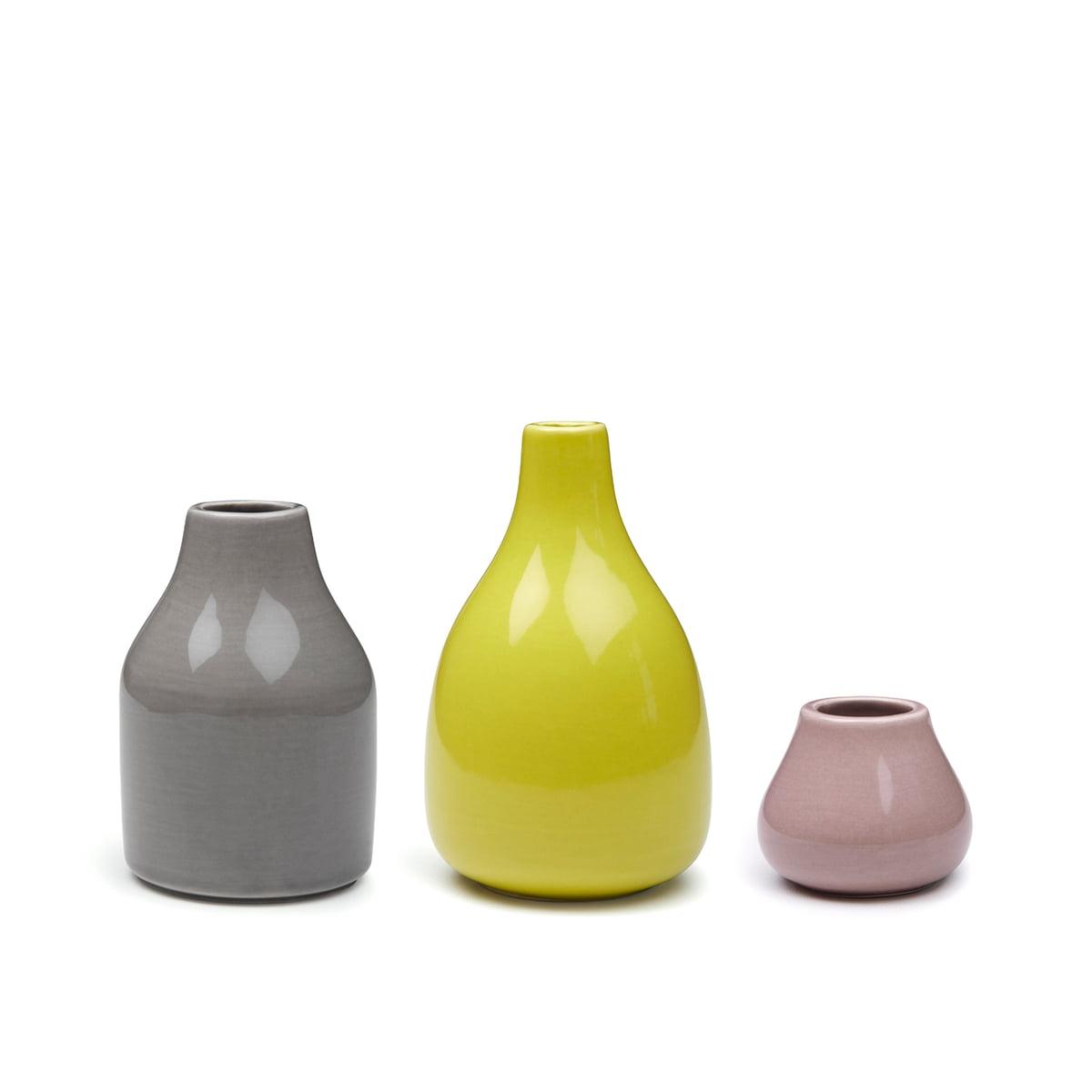 botanica vases by kähler in the shop - kähler design  botanica vases set ( pcs)