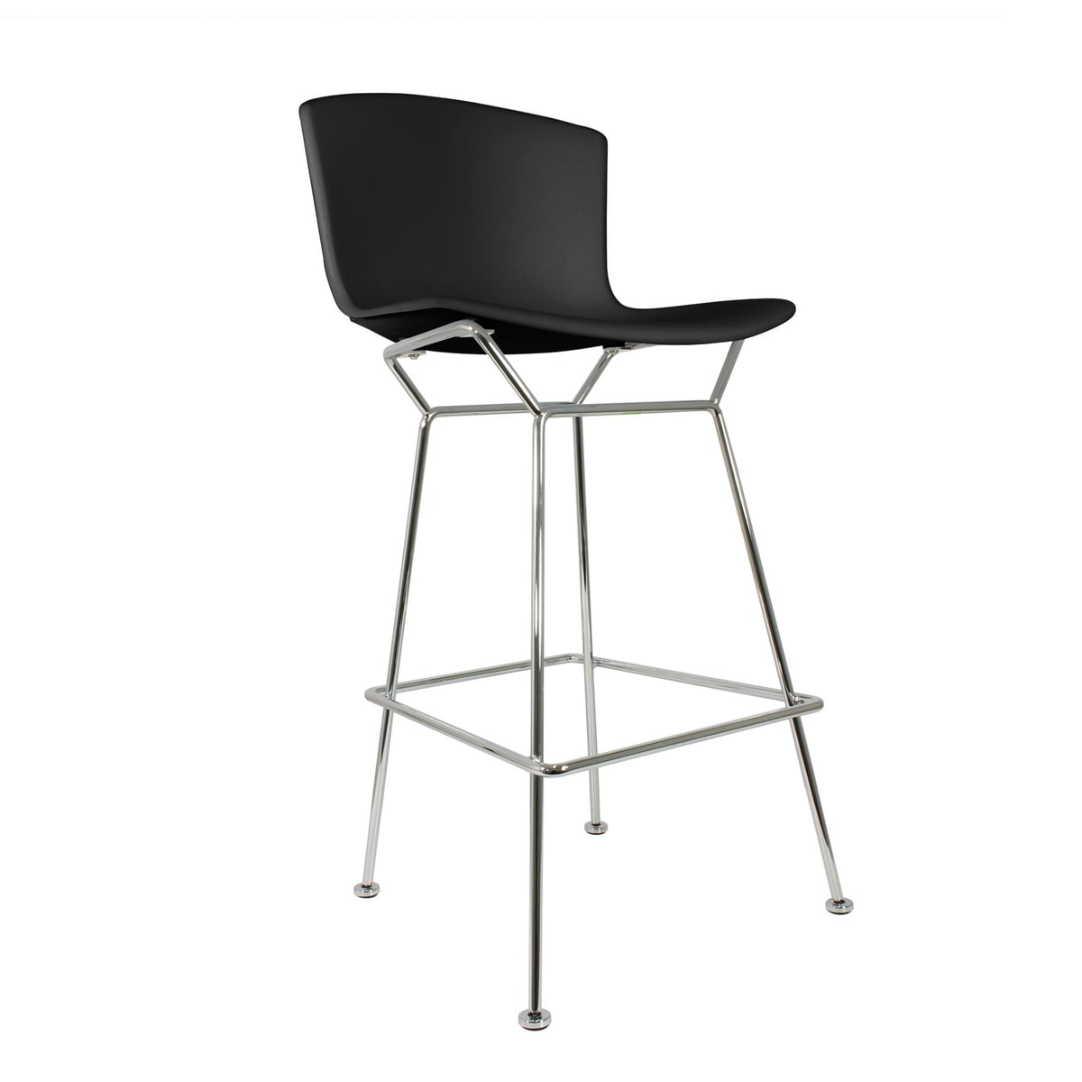 Knoll Bertoia Plastic Bar Stool blackchrome plated