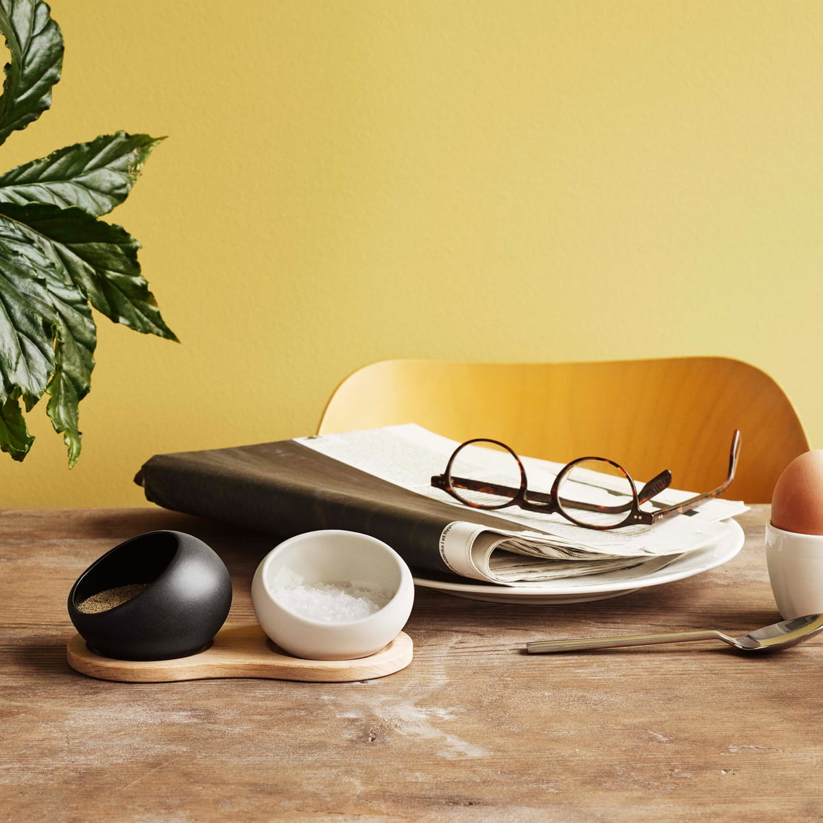 Rosendahl  Salt And Pepper Bowls With Tray