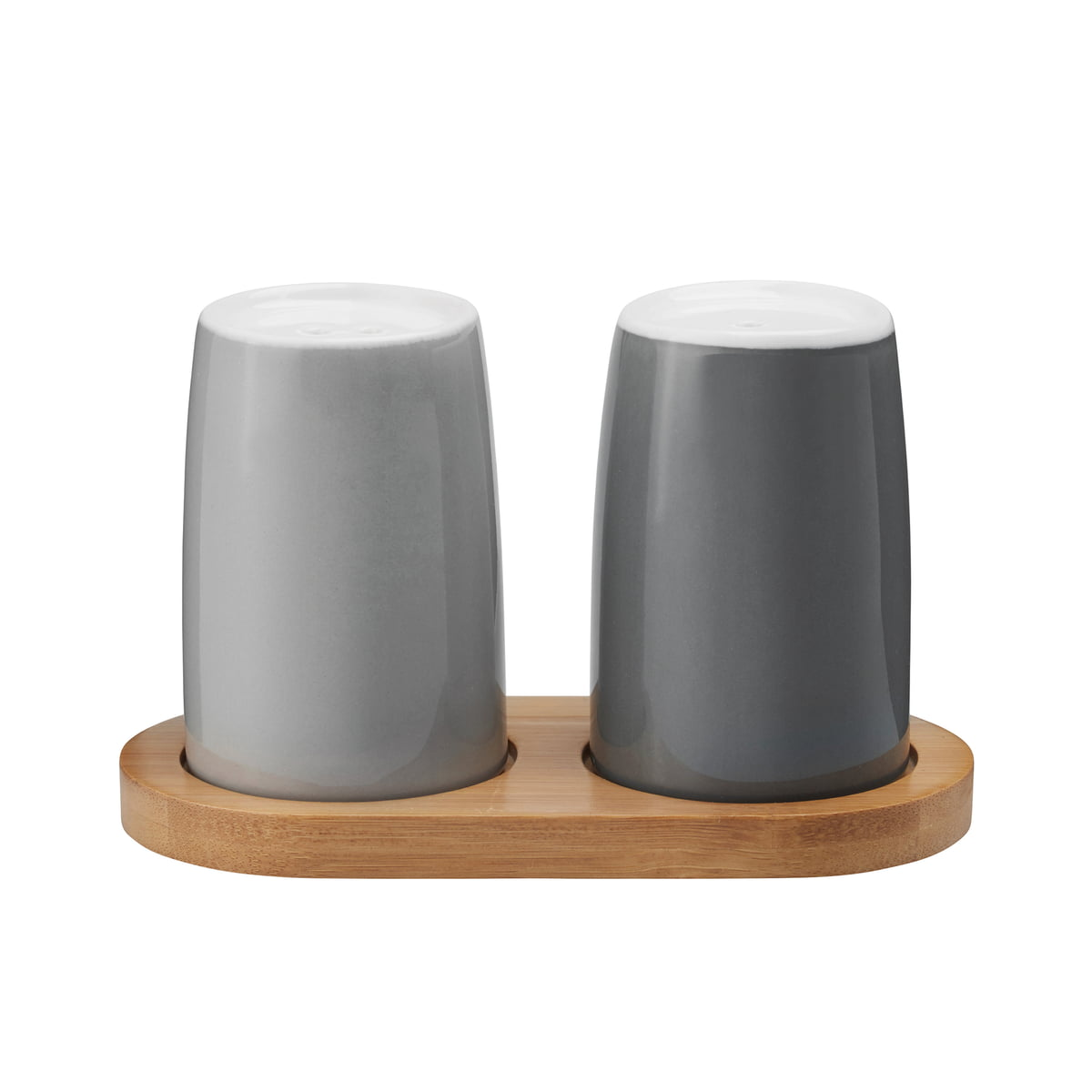 emma salt and pepper shakers by stelton - stelton  emma salt and pepper shakers grey