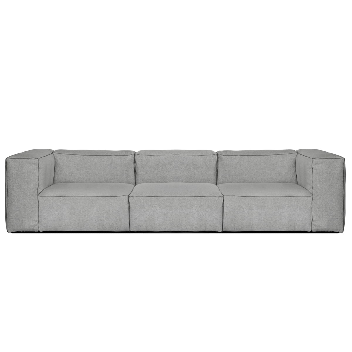 Hay   Mags Soft Sofa, 3 Seater, Hallingdal 130 Light Grey
