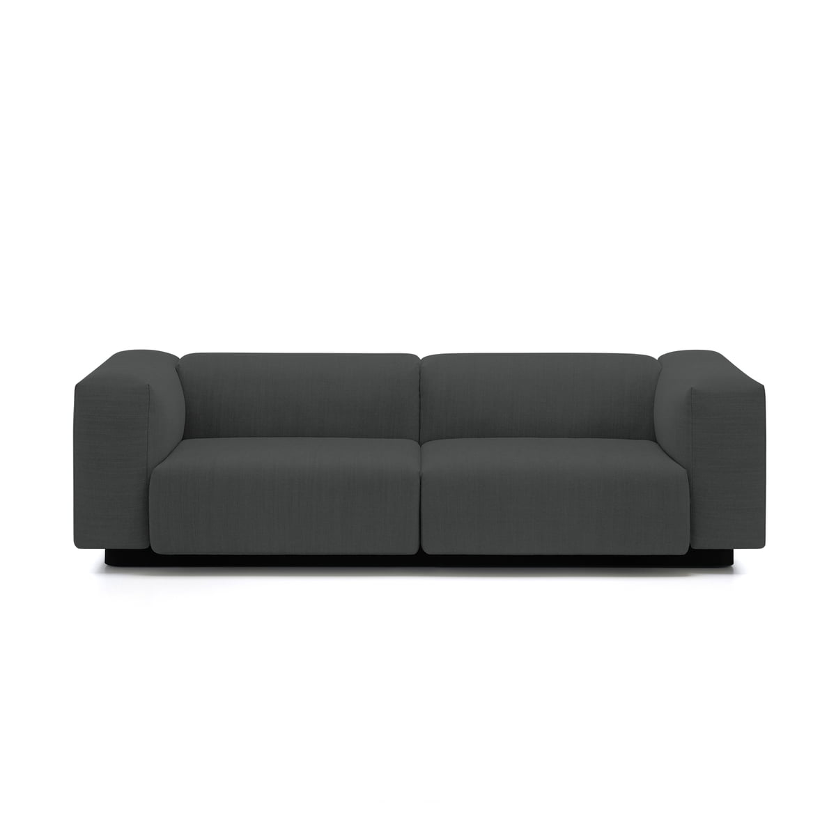 soft modular 2 seater sofa from vitra in the connox shop. Black Bedroom Furniture Sets. Home Design Ideas