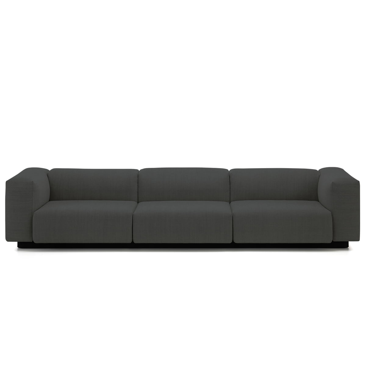 vitra soft modular 3 seater connox shop. Black Bedroom Furniture Sets. Home Design Ideas