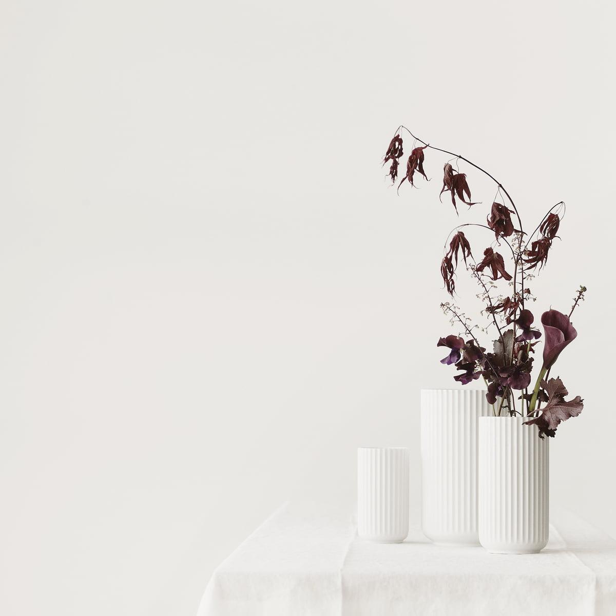 lyngby vase white matte online shop connox. Black Bedroom Furniture Sets. Home Design Ideas
