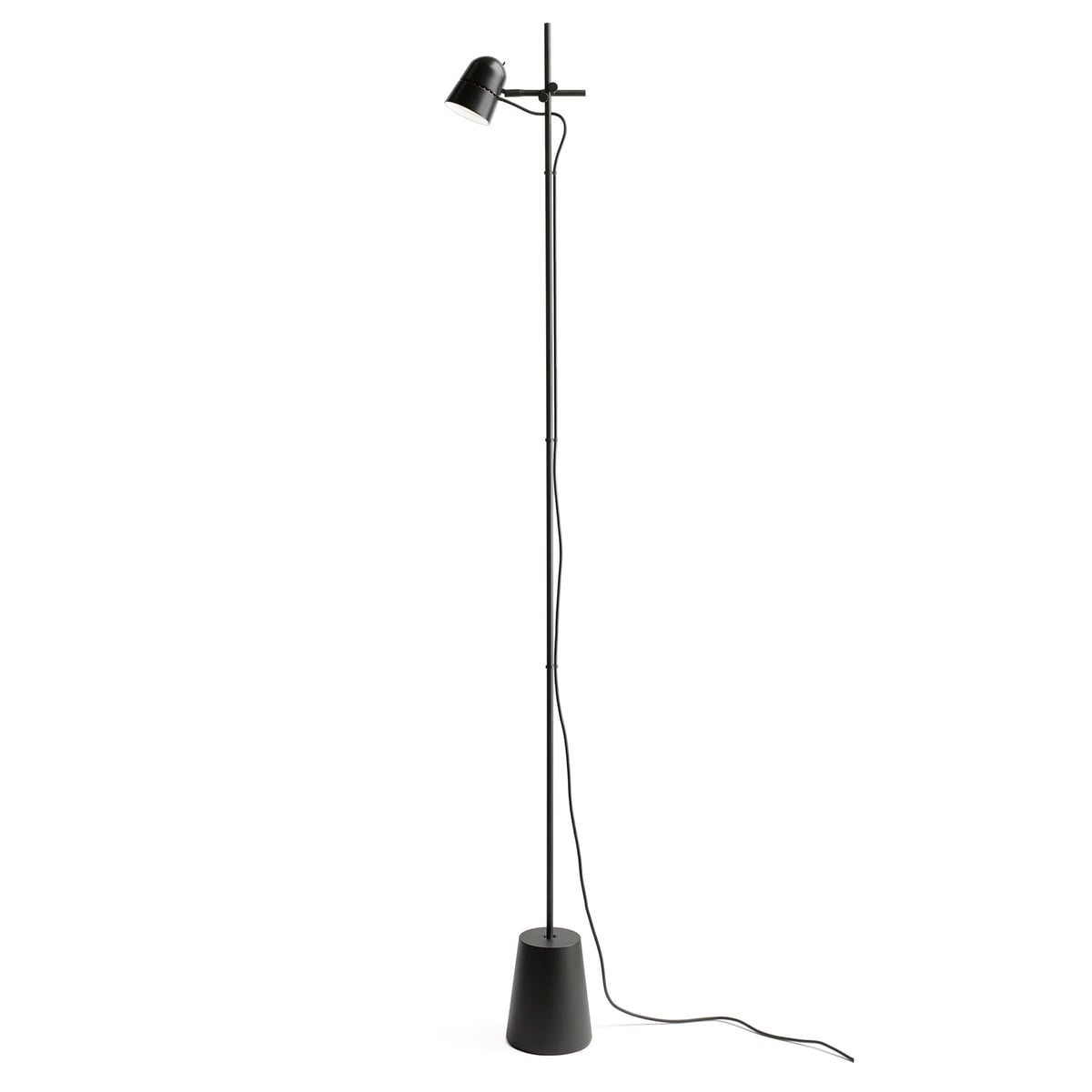 Counterbalance Floor Lamp by Luceplan:The Counterbalance Floor Lamp by Luceplan in Black,Lighting