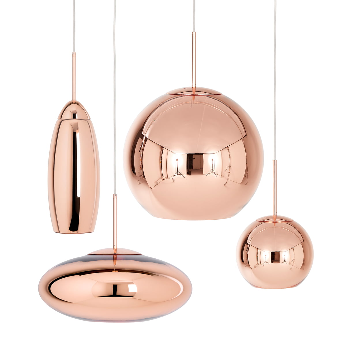 copper wide pendant lamp by tom dixon. Black Bedroom Furniture Sets. Home Design Ideas