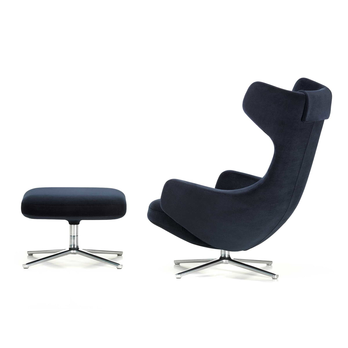 grand repos armchair ottoman vitra shop. Black Bedroom Furniture Sets. Home Design Ideas