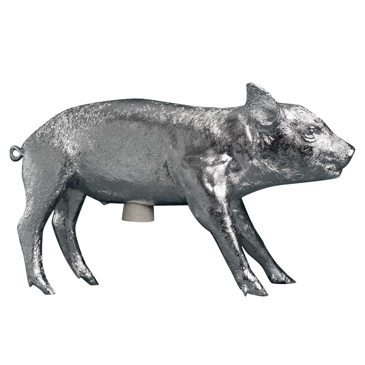 pig bank by areaware - areaware  pig bank chrome