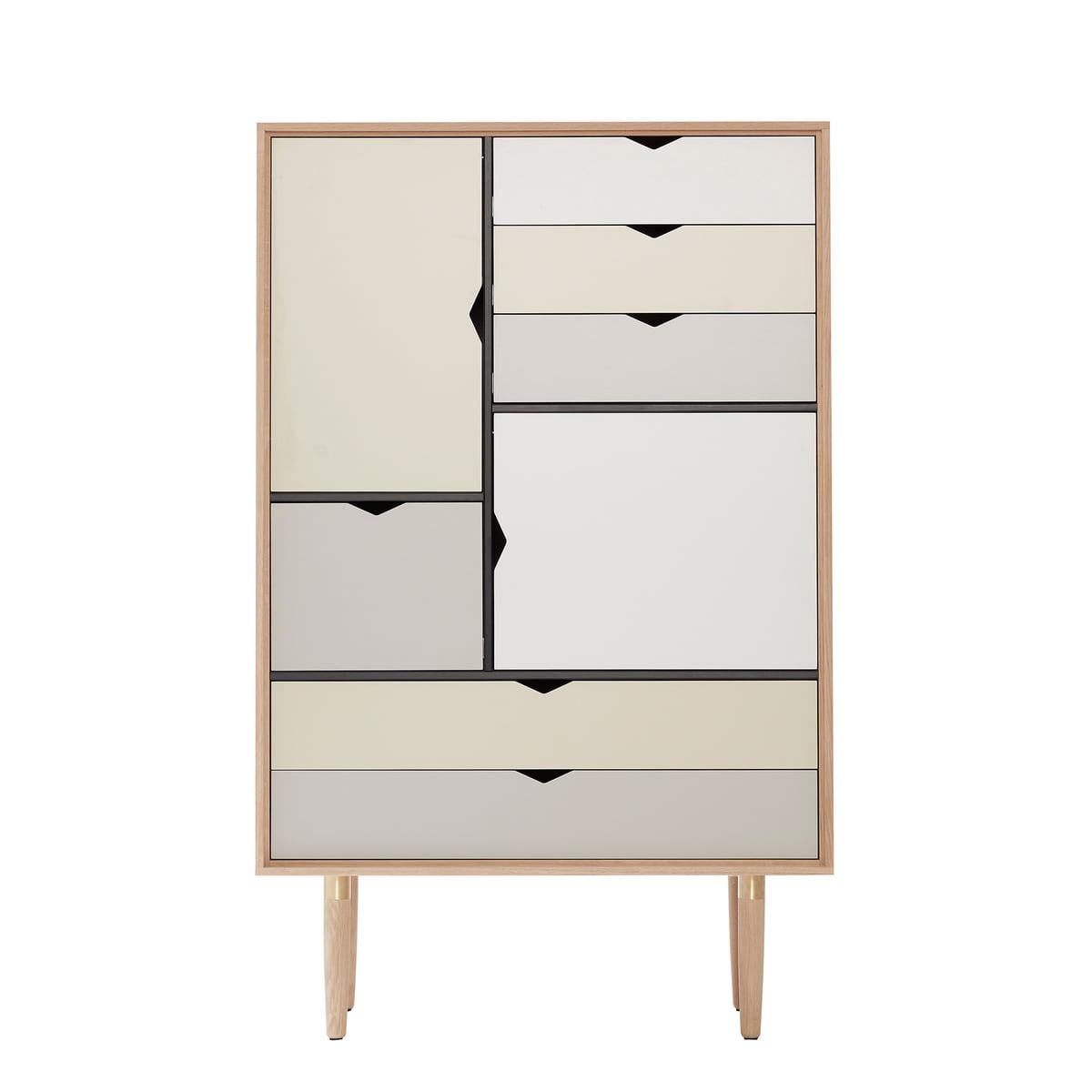S5 Storage Unit By Andersen Furniture In Soaped Oak (front Panels Silver,  Doeskin,