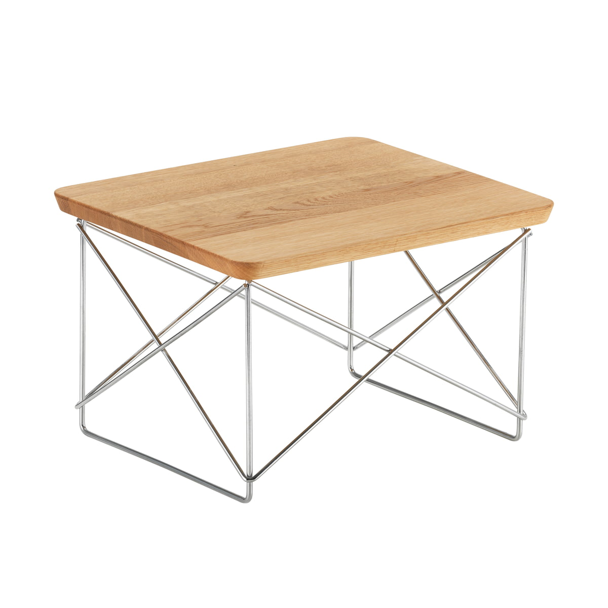 Eames Occasional Table LTR By Vitra In Oak / Chrome