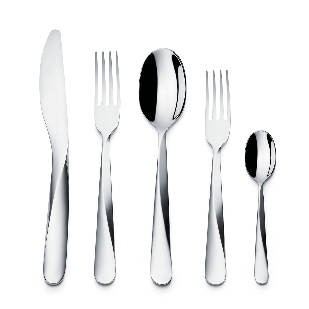 giro cutlery set by alessi  connox shop - giro cutlery set  pcs by alessi